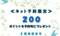 【2月はネット予約がおすすめ!】